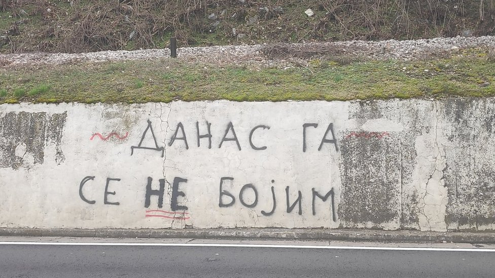 Grafit na ulazu u Kruševac