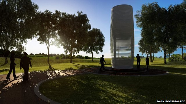 Artist's giant ioniser tower