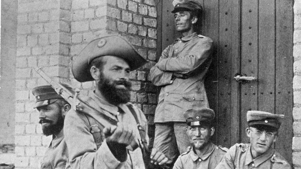 German troops in Namibia in 1904
