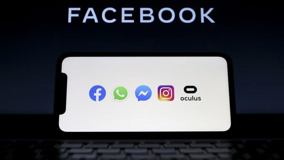 شعار تطبيقات فيسبوك