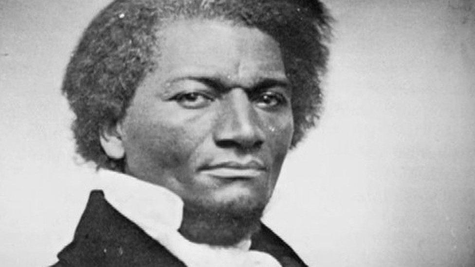 Slavery abolitionist Frederick Douglass celebrated