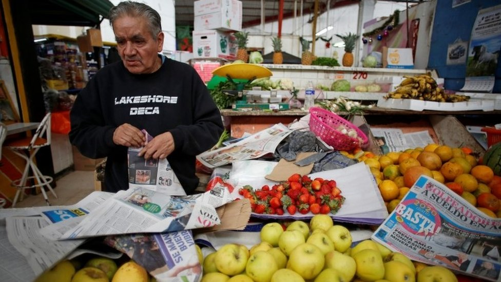 Un vendedor de fruta en Ciudad de México
