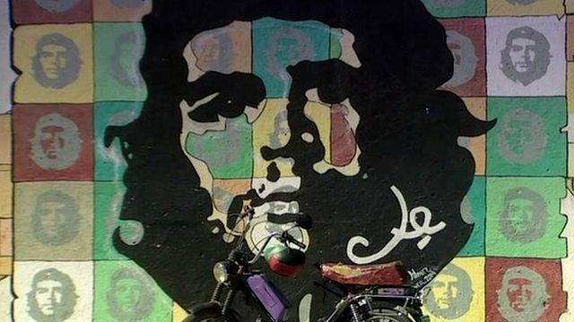 Mural of Che Guevara in Cuba