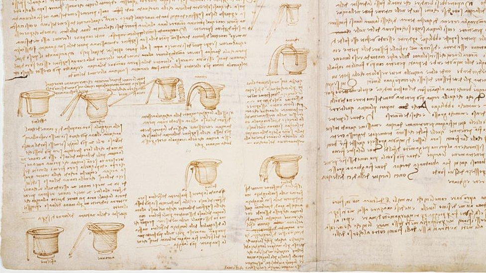 En el Códice Leicester, Da Vinci detalla algunos de los experimentos que llevó a cabo en su laboratorio para poner a prueba sus teorías.
