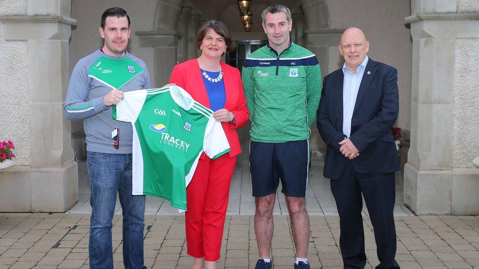 Foster meets Fermanagh GAA team ahead of Ulster final