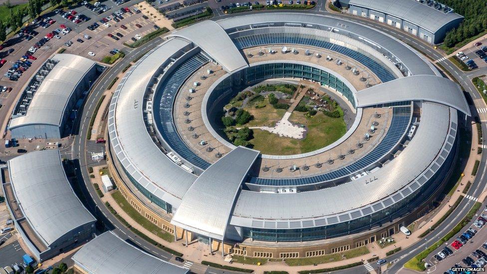 Government Communications Headquarters, también conocido como GCHQ, Cheltenham, Gloucestershire.
