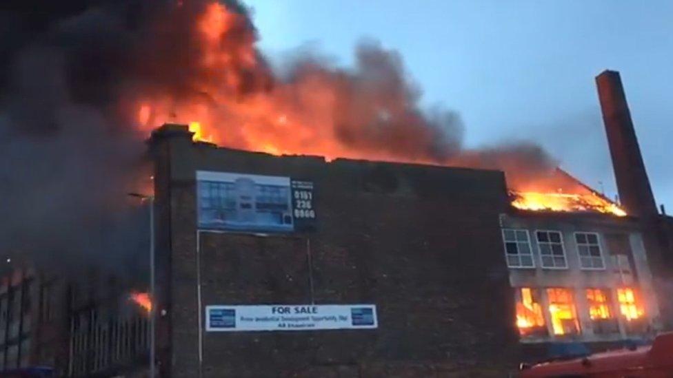 Fire scene Manchester