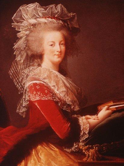 Portrait of Marie Antoinette - stock illustration
