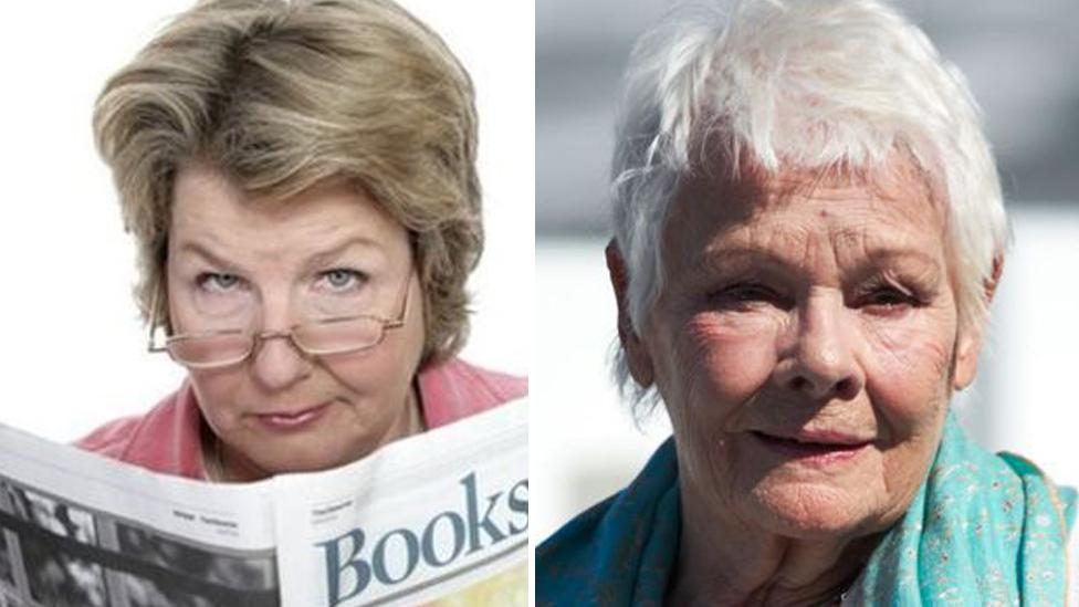 Sandi Toksvig and Dame Judi Dench.