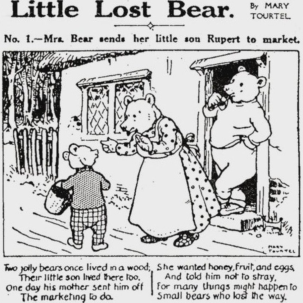 First illustration of Little Lost Bear from Daily Express