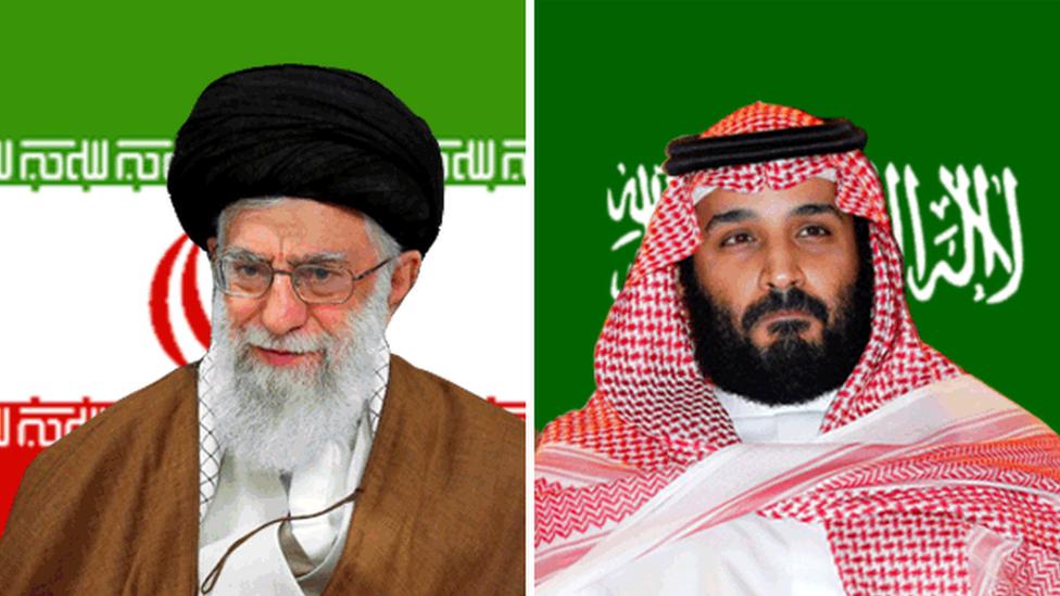Ali Khamenei y Mohammed bin Salman
