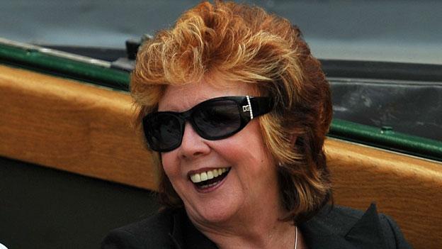 Cilla Black at Wimbledon in 2009