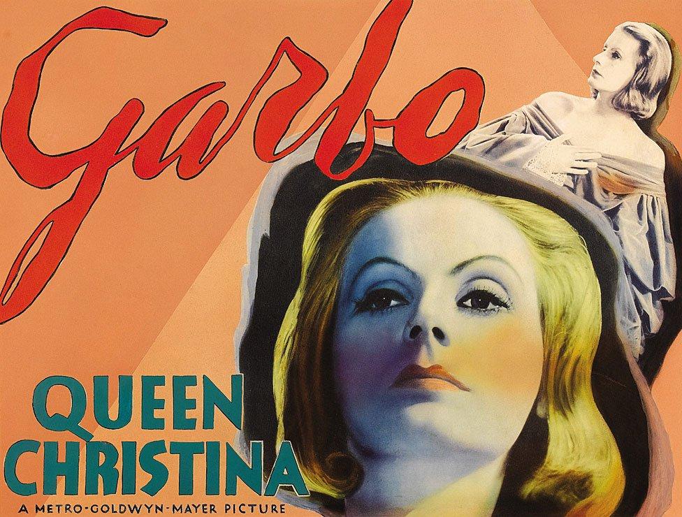 """Un poster de Greta Garbo en su film """"La reina Cristina"""", de 1933"""