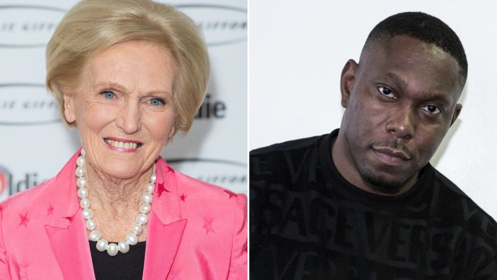 Mary Berry and Dizzee Rascal