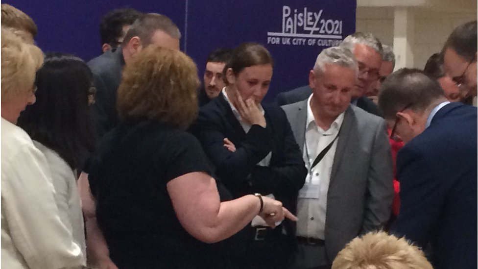 Mhairi Black awaiting the count result