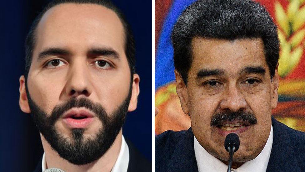 Bukele y Maduro.
