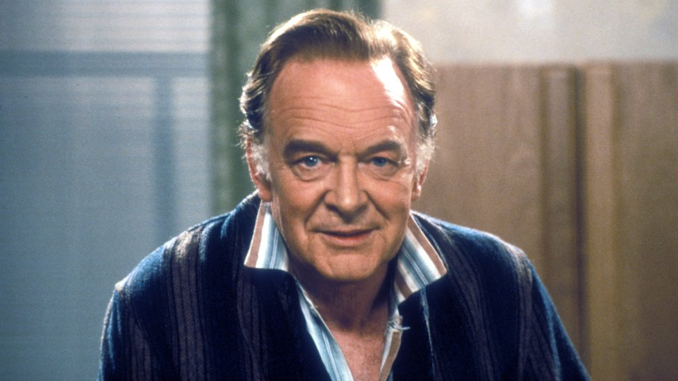 """Tony Britton as Dr Toby Latimer in series one of the comedy sitcom """"Don't Wait Up""""."""