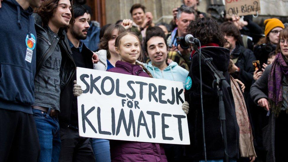 La activista Greta Thunberg en Lausanne, Suiza, 17 de enero de 2020