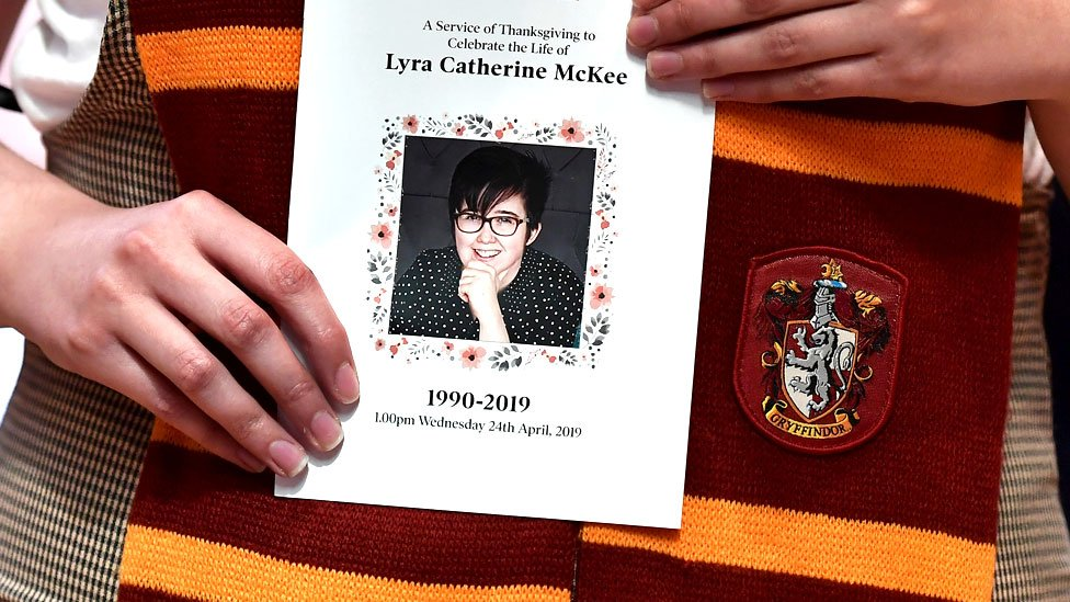 Lyra McKee: Mourners arrive at St Anne's Cathedral funeral