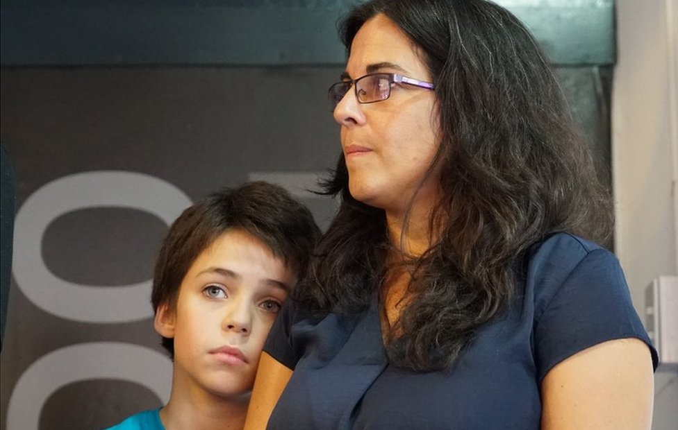 Analía Kalinec with her 13-year-old son Bruno