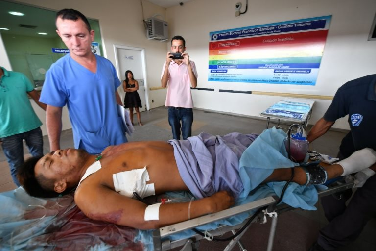 Un paciente herido en Brasil