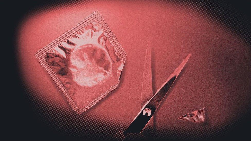Condón cortado
