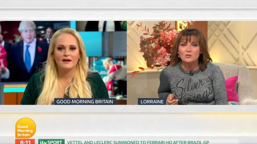 Jennifer Arcuri and Lorraine Kelly