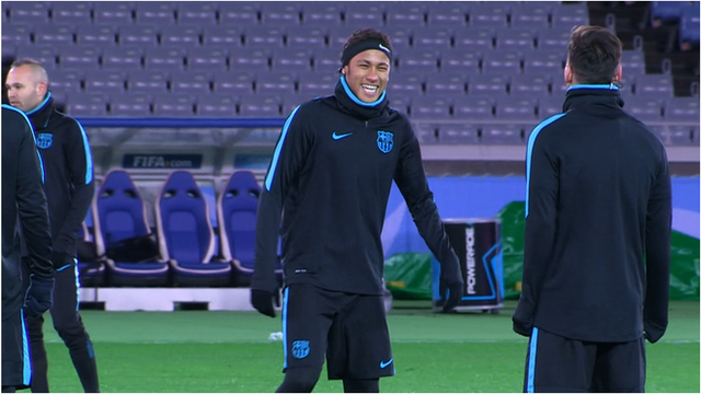 Neymar and Lionel Messi