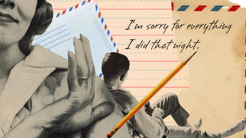 A man with a pencil 'I'm sorry for everything I did that night'