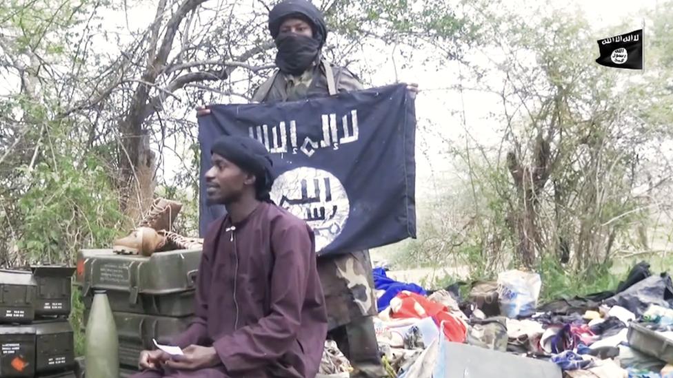 Screengrab from Boko Haram video
