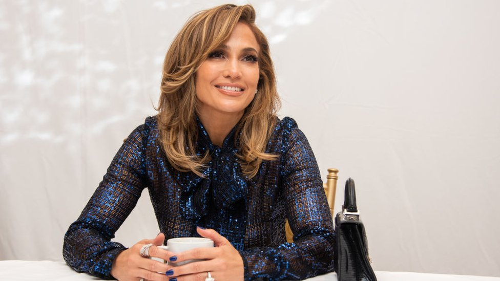 Jennifer López en la conferencia de prensa de lanzamiento del film.
