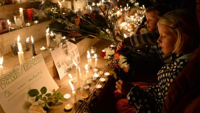 Candlelit vigil for victims of terrorism