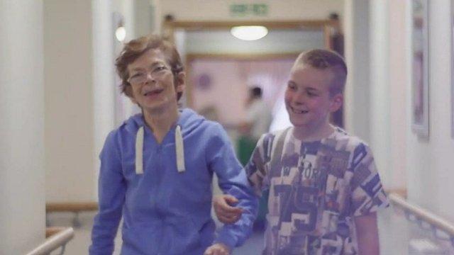 Dan with his Nan