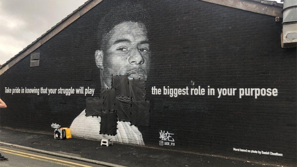Marcus Rashford mural vandalised