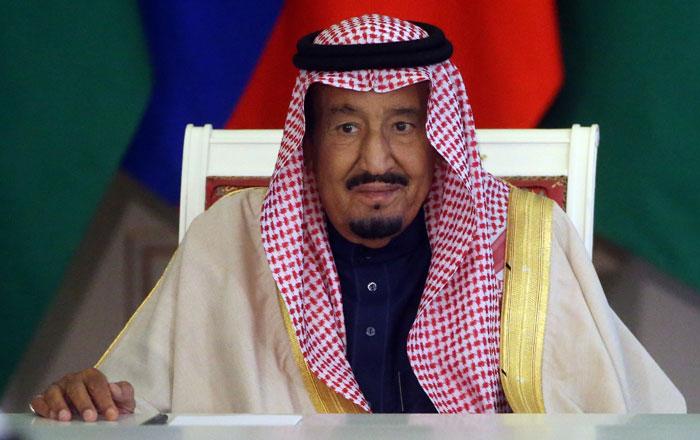 Rey Salmán de Arabia Saudita.