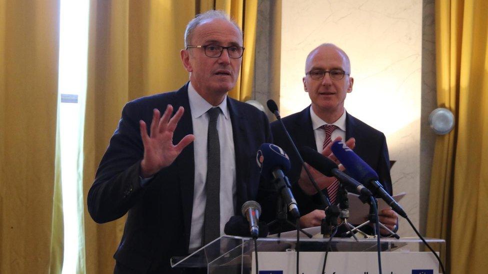 Ambasador Francuske Žan Luj Falkoni i nemački ambasador Tomas Šib