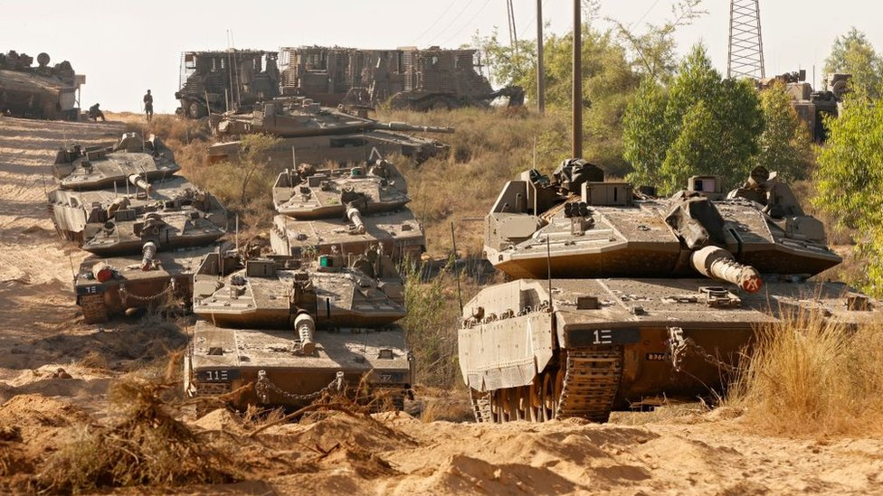 Tanques del ejército israelí