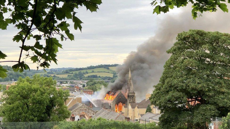 Newport fire: Evacuation warning over demolition work