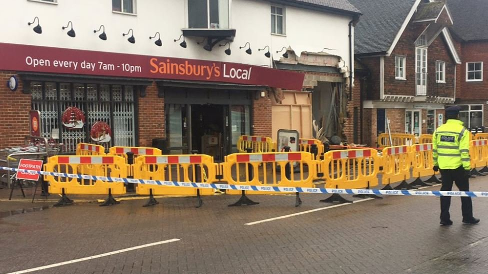 Ram raiders rip ATM from Headcorn Sainsbury's wall