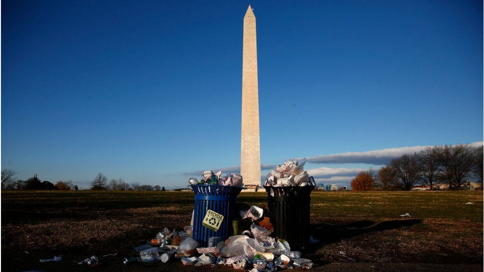 Basura acumulada en Washington