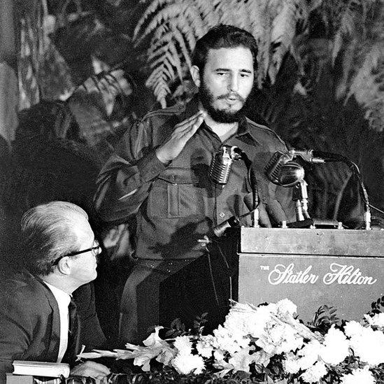 Fidel Castro se encontraba en EE.UU. cuando se produjo la invasión a Panamá e intentó desligarse de lo ocurrido.