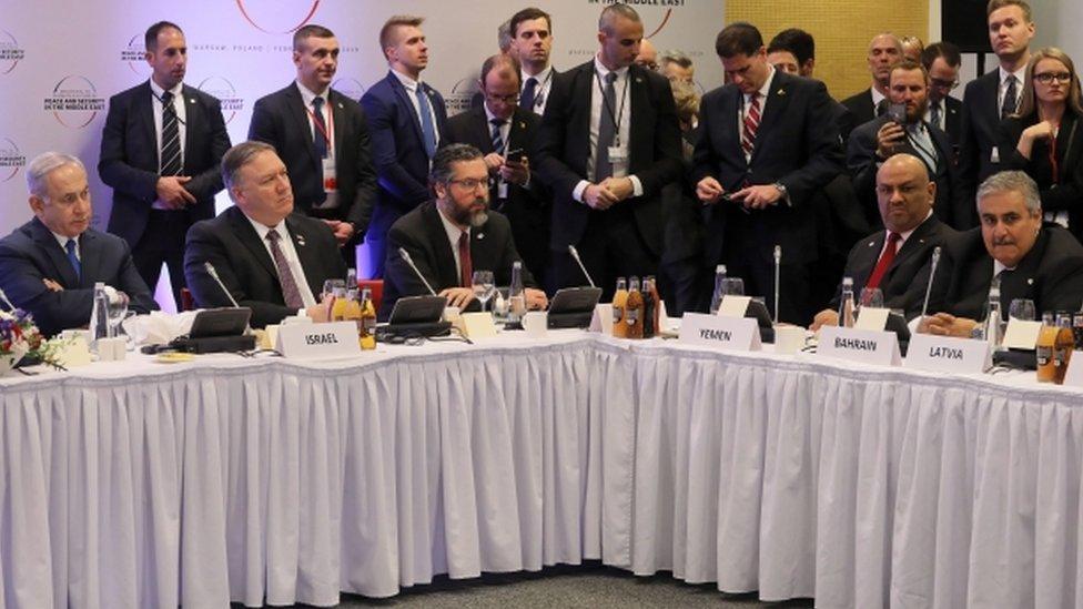 اجتماع يضم نتنياهو ووزيري خارجية البحرين واليمن في وارسو