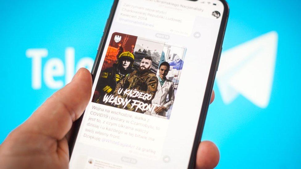 Telegram con propaganda