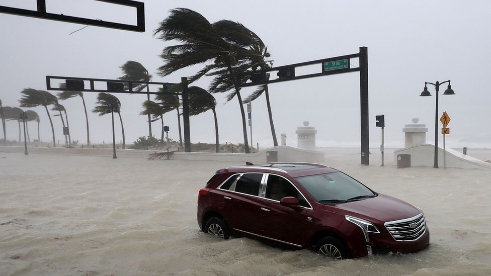 Hurricane Irma hits Fort Lauderdale, Florida