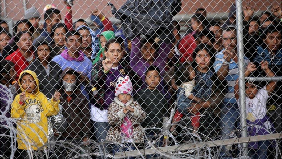 Inmigrantes centroamericanos en El Paso, Texas