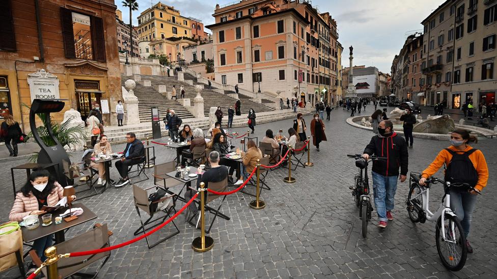 Roma'da kısıtlamalar yürürlükte.