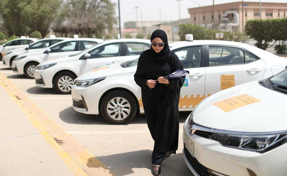 A driving lesson at Saudi Aramco Driving Center in Dhahran