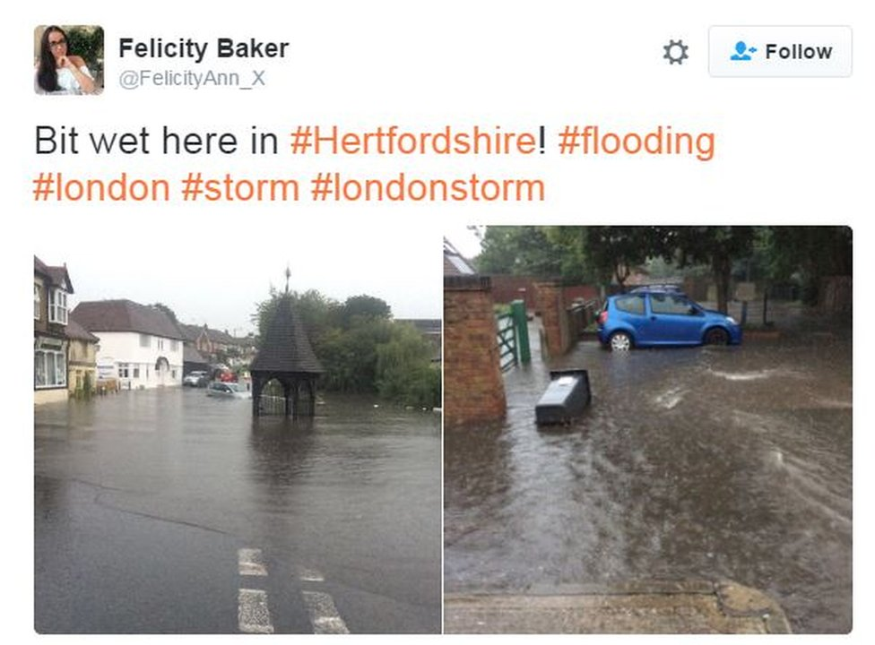 Flooding in Hertfordshire