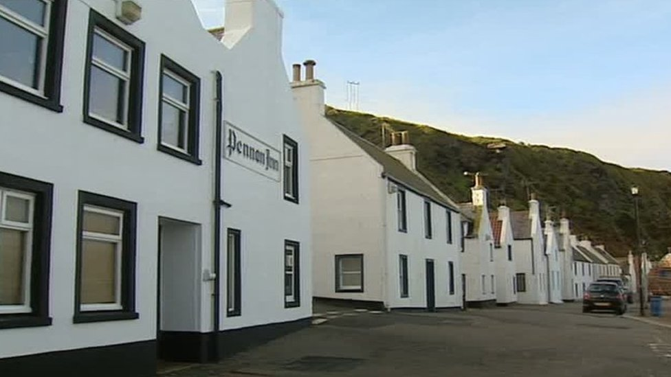 The village of Pennan was the setting for many scenes in the film