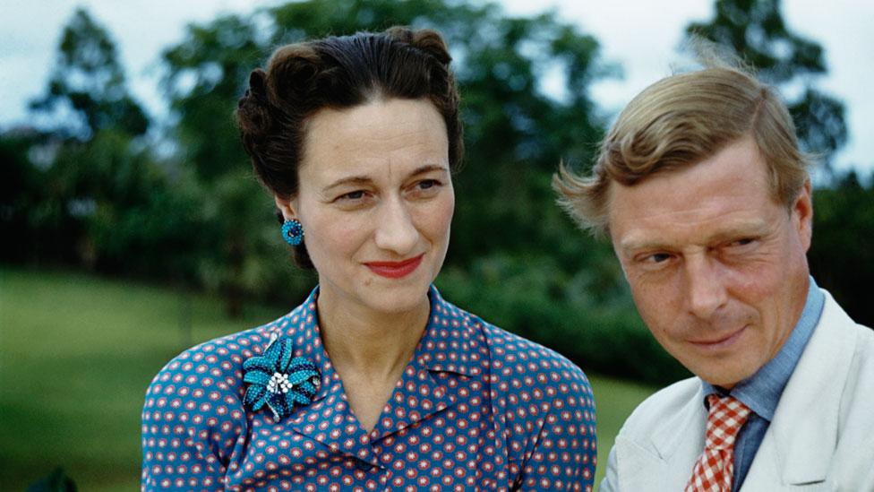 Wallis Simpson y Eduardo en 1942